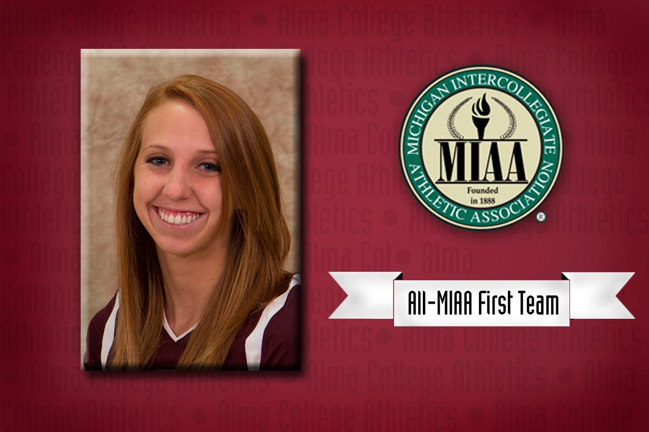 Lea Klooster honored as Volleyball All-MIAA First Team