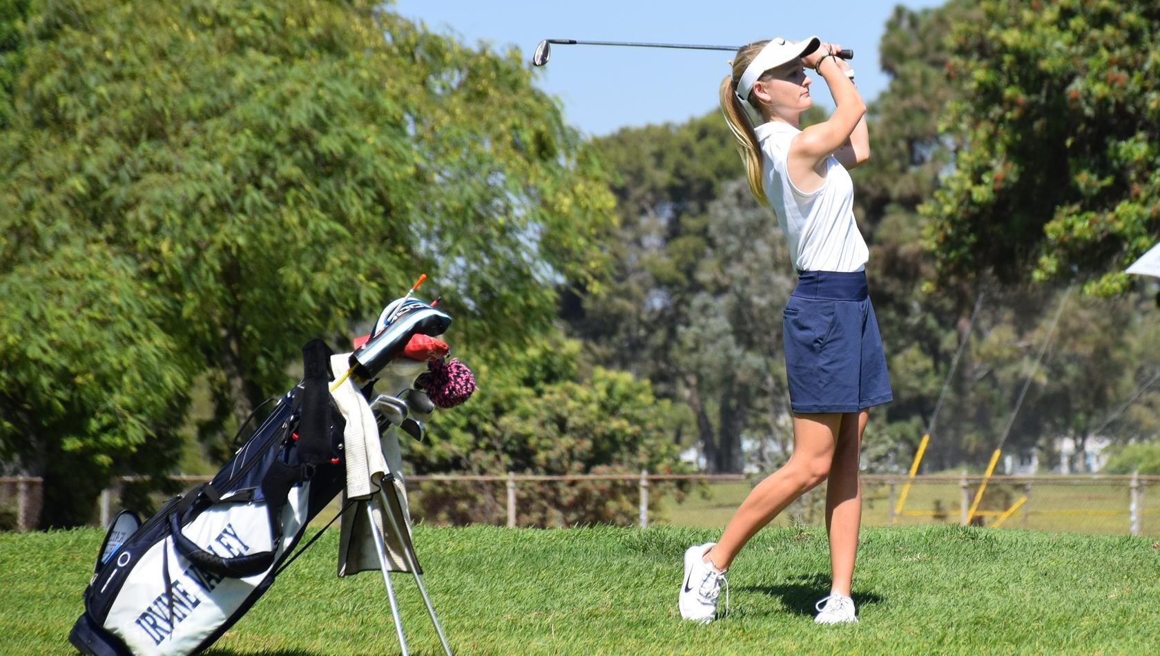 Golfer Katie Stribling cards 76, leads OEC Champs after day one