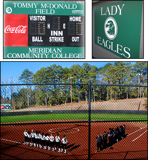 Tommy McDonald Field, the home of the Lady Eagles Softball Team