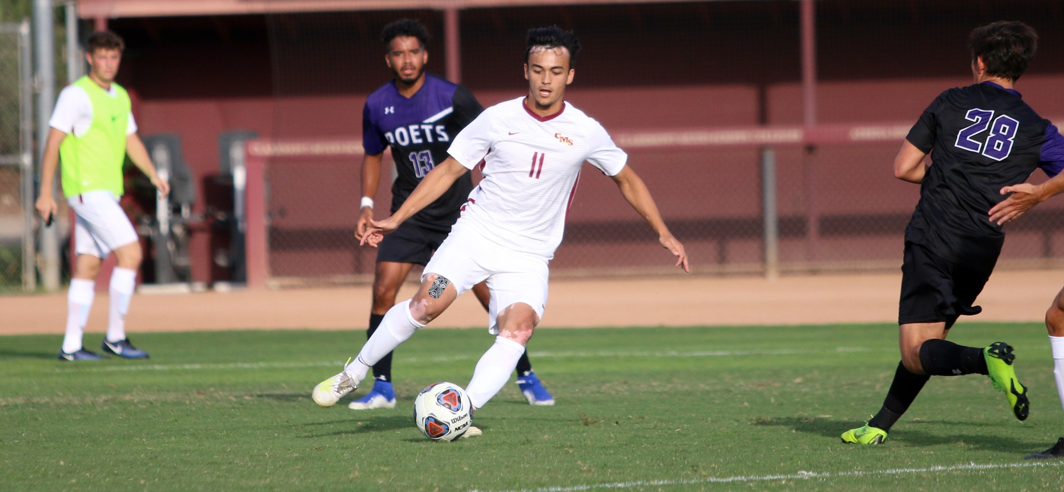 Daniel Rohde's acrobatic goal in the 86th minute gave CMS a 2-2 tie with Redlands.