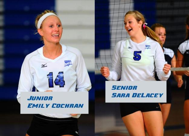 Cochran and DeLacey Earn NEC Honors