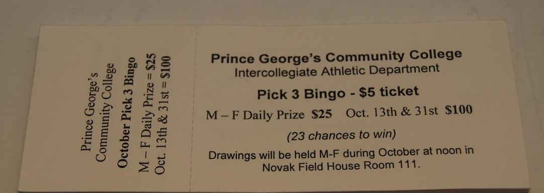 The Athletic Department is having its Annual Raffle for 2015 Season
