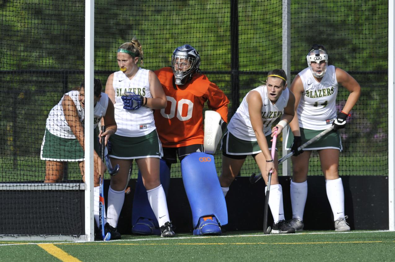 Field Hockey versus Western New England University Suspended at 1-1