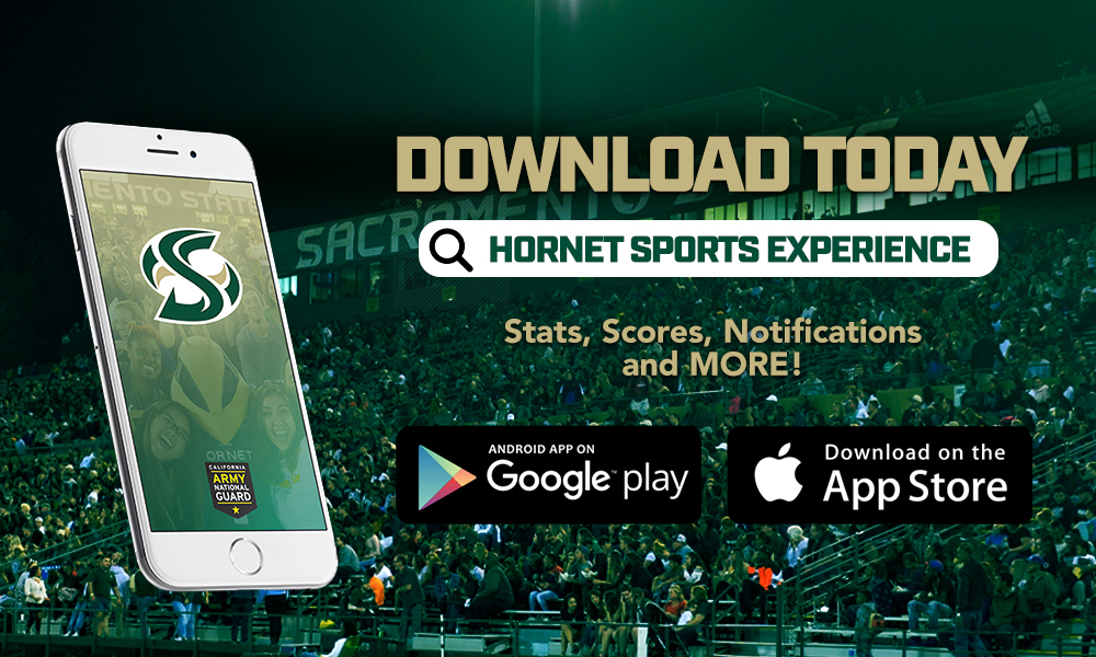 FOLLOW THE HORNETS BY DOWNLOADING THE NEW SACRAMENTO STATE ATHLETICS APP