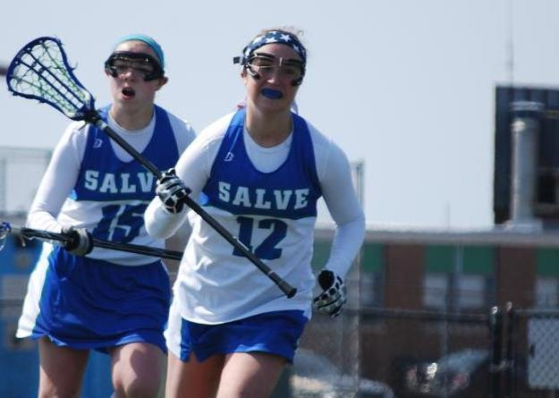 Sophomore Abigail Tepper notched a game-high six points (2g, 4a) against UNE.