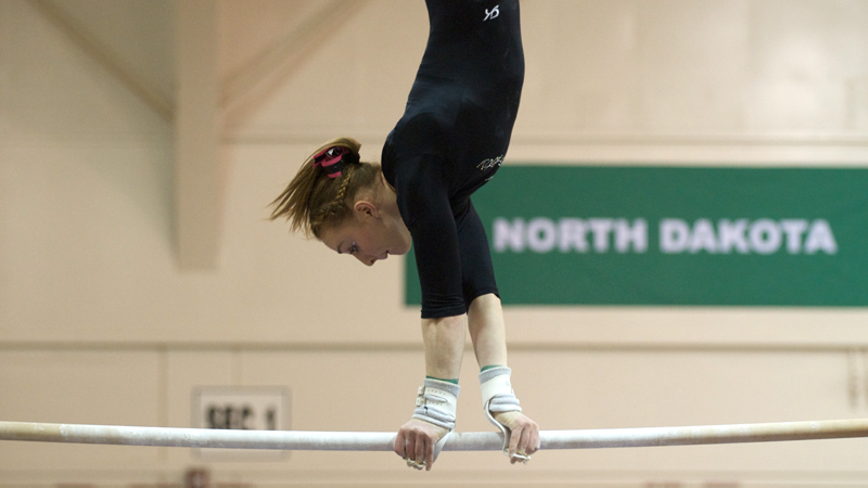 GYMNASTICS SWEEPS ALL FOUR EVENTS AND ALL-AROUND IN WIN OVER AIR FORCE