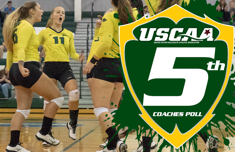Women's Volleyball Fifth in First USCAA Coaches Poll