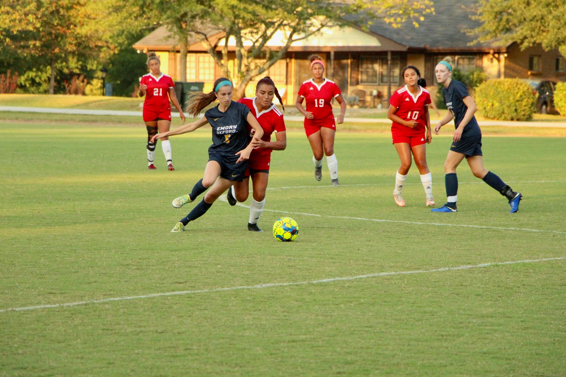 Moore's Hat Trick Leads Women's Soccer to Dominating Win