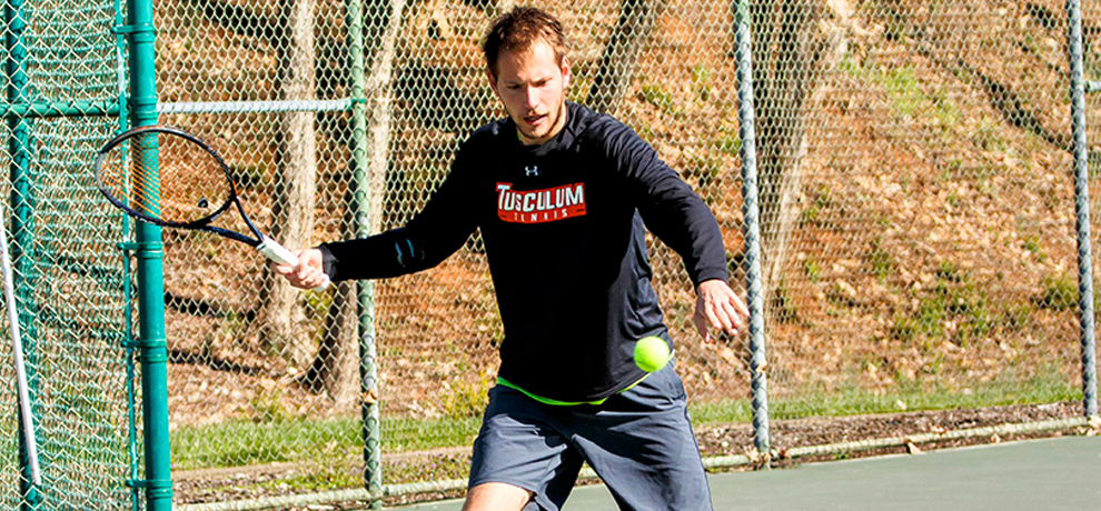 Tomas Kmetko won his singles match in straight sets against No. 27 Newberry