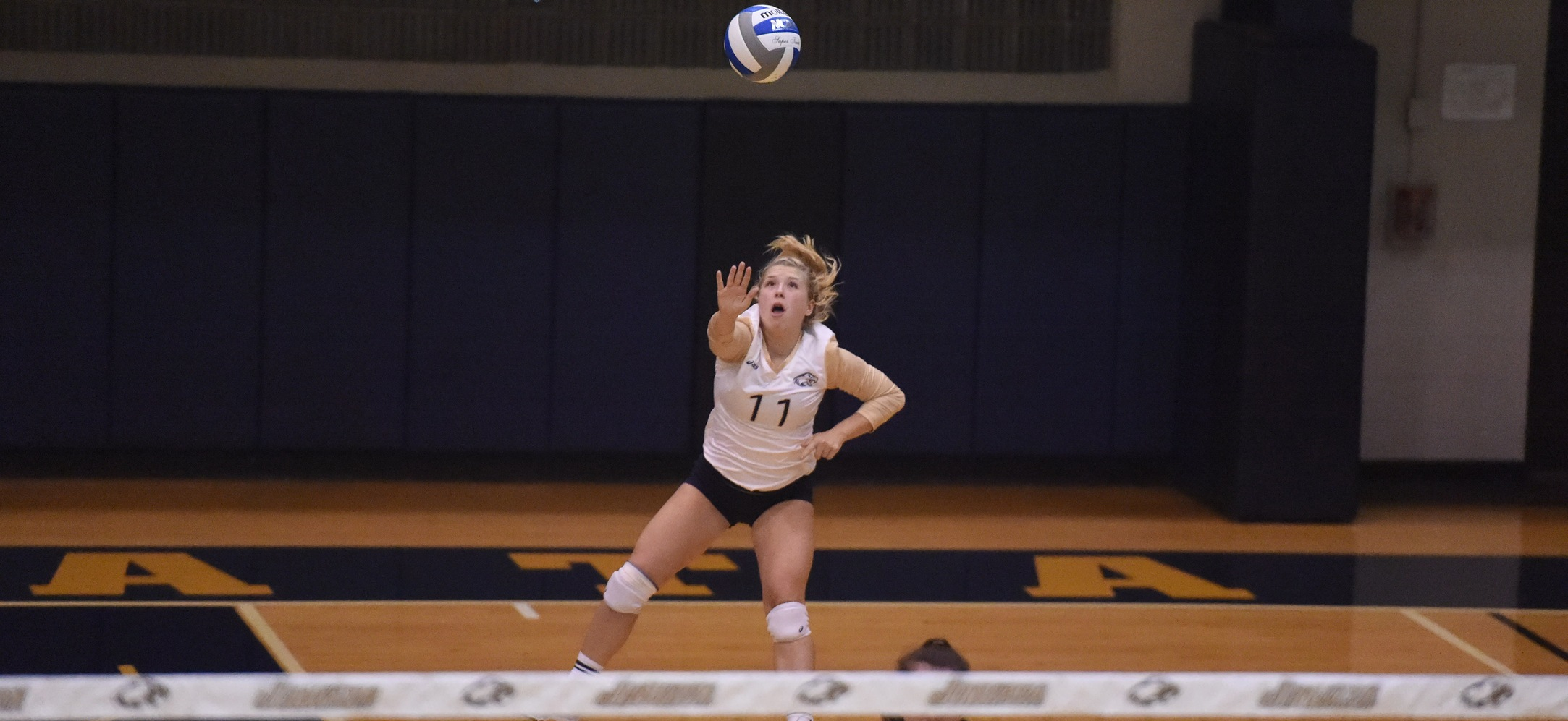 Women's Volleyball Sweeps Eastern in Battle of the Eagles
