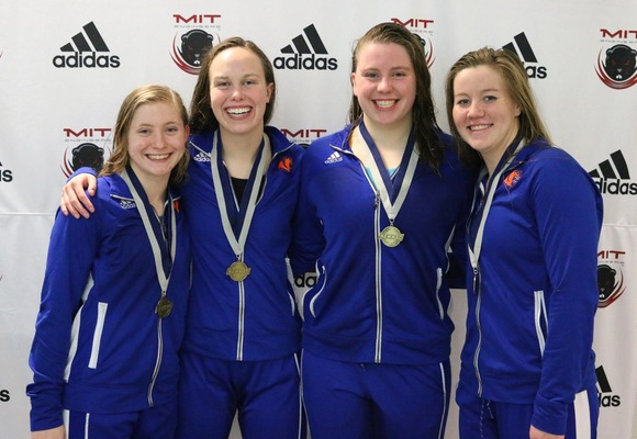 800 Free Relay Wins NEWMAC Championship and Breaks School Record