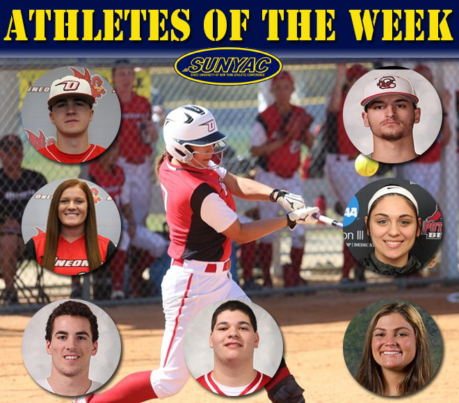 SUNYAC honors Baseball, Softball, and Lacrosse athletes of the week