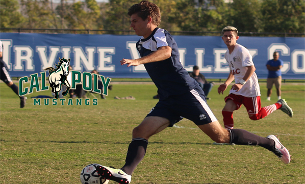 Men's soccer player Sean Goode ready to go at Cal Poly
