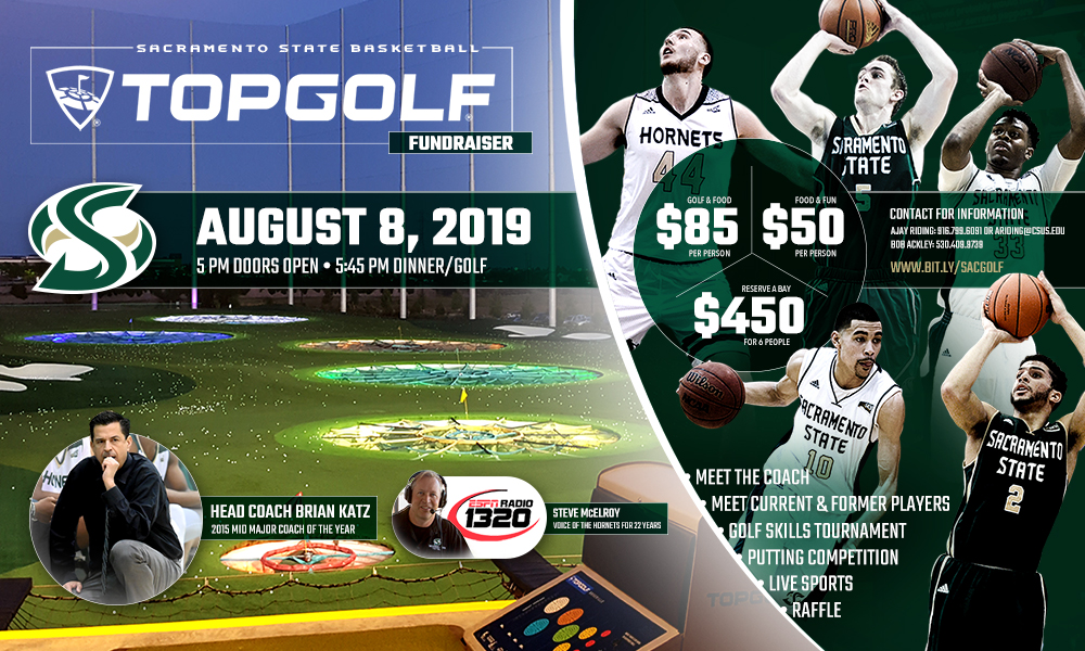 MEN'S BASKETBALL TO HOST FUNDRAISER AT TOPGOLF IN ROSEVILLE ON AUG. 8