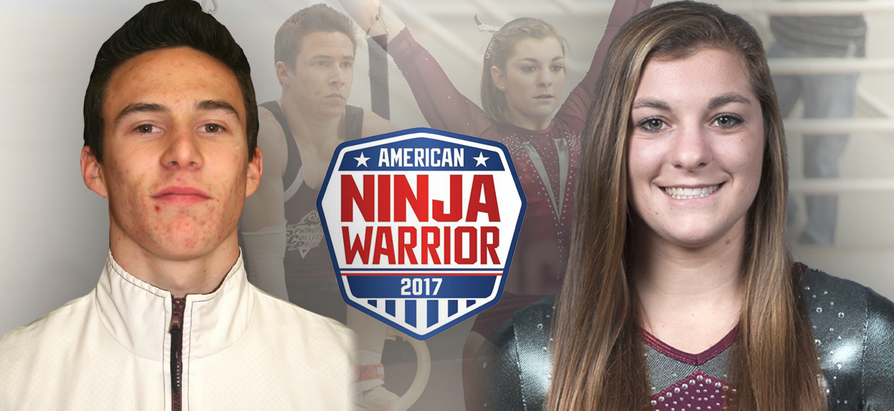 Former Standout Gymnasts Evans '12 and Clark '15 to Compete in Season 9 of American Ninja Warrior on NBC