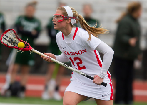Kelly Haglund scored five goals, controlled four draw and four ground balls on Thursday afternoon<BR>