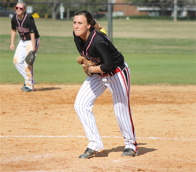 Sexton, Lady Cavs shut out Andrew in double header