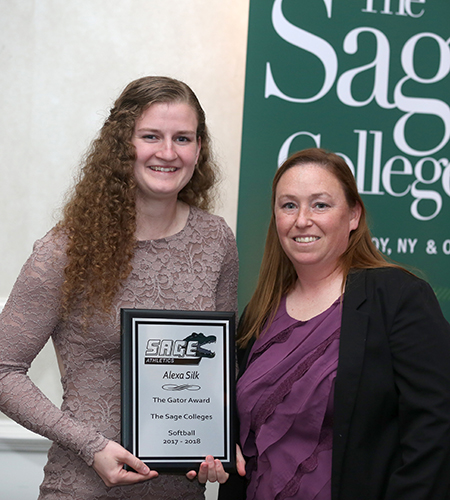 Silk honored as Gator of the Year, Co-Female Athlete of the Year and Dean Robinson Scholar-Athlete at Sage's Banquet
