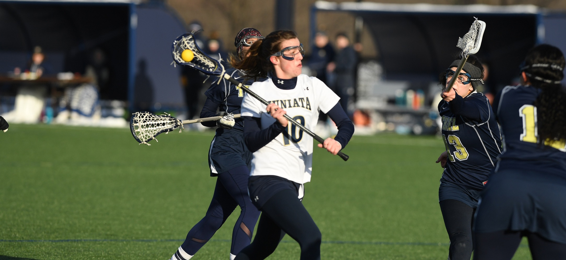 Natalie Gibson amassed two goals, a ground ball, six draw controls and two caused turnovers against Moravian.