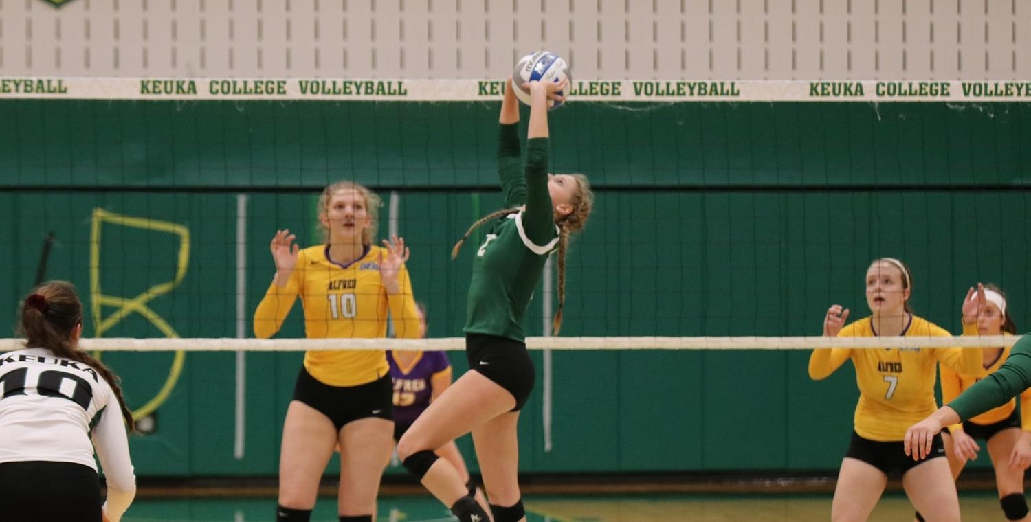 Alyssa Rex (2) had 22 assists, 14 digs, 7 kills, and 3 aces for the Wolves -- Photo by Lauren Anten