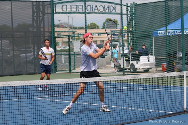 File Photo: (L-R) Jan Simon and Lucas Legrand posted an 8-1 doubles win
