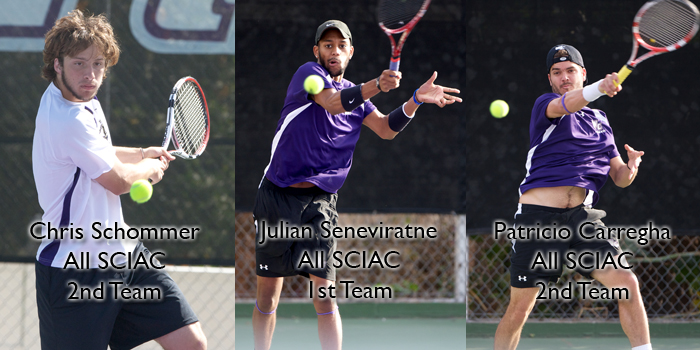 Seneviratne, Carregha, Schommer earn All-SCIAC Recognition