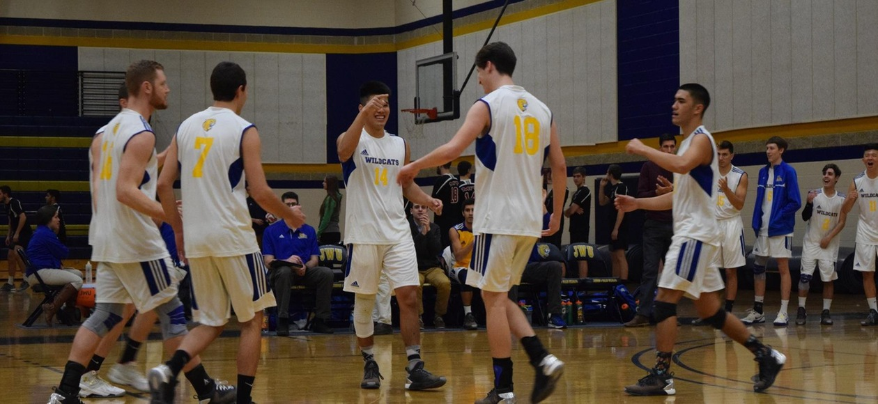 Men's Volleyball Defeats Emerson in First Round of GNAC Tournament