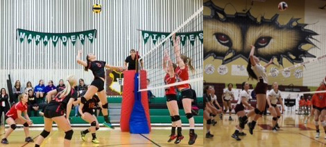 Cassandra Nagy (left) and Ashlynn Starry are two of DCB's new VB recruits.