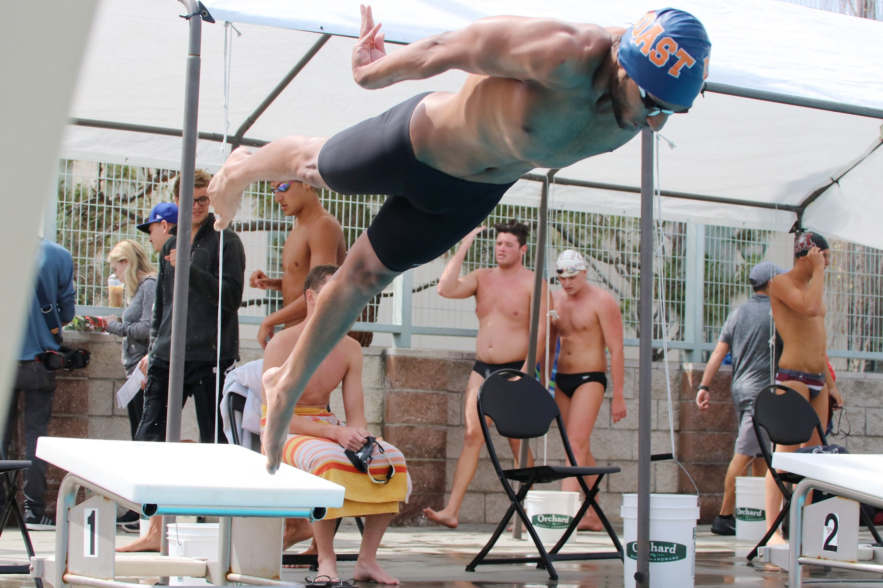 Pirates rule the Pool on Day 1 of CCCAA State Meet
