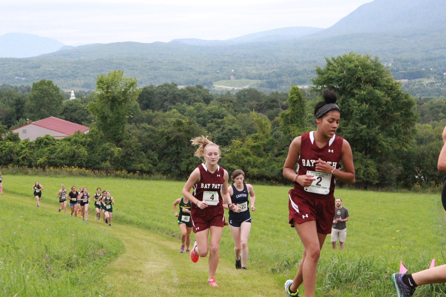 Bay Path opens X-C season in Southern Vermont Mountaineer Invitational with a 5th place finish.