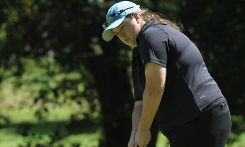 Junior Erin Craig improved by four strokes on Tuesday.
