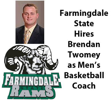Brendan Twomey Named Men's Basketball Coach at Farmingdale State