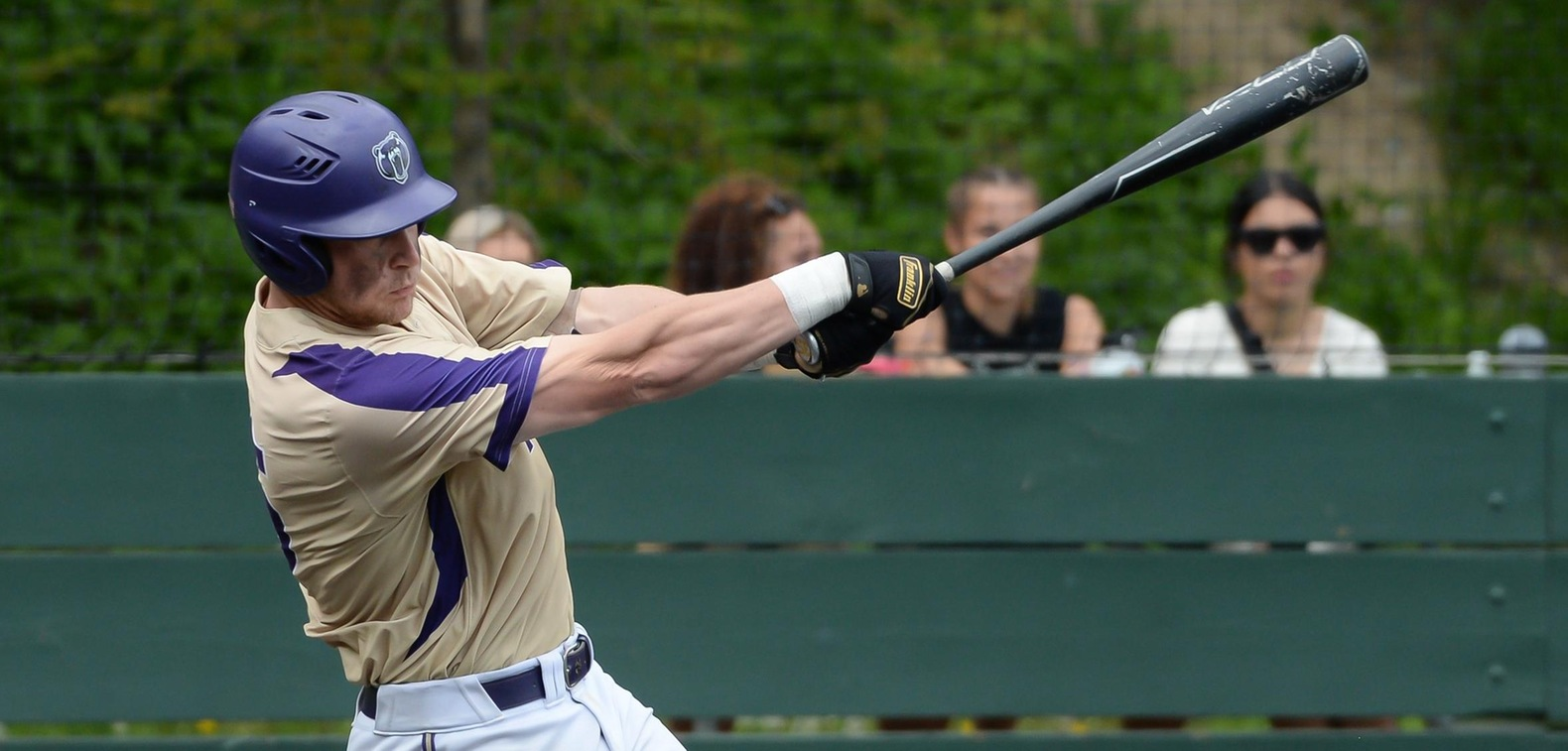 Riley Baasch notched his milestone 200th RBI in Monday's first championship game.