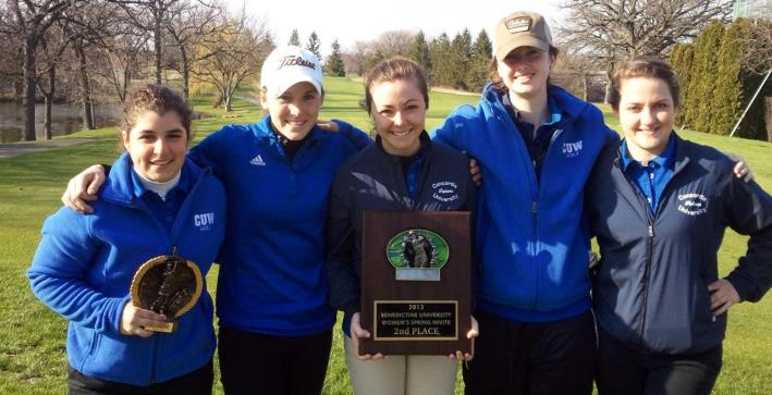Puch leads Women's Golf to second place finish at Benedictine Spring Invite