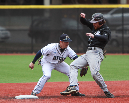 Bison outlast Washington College in 14 innings, 2-1