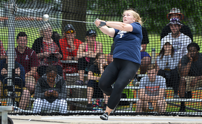 Eck Moves into Second in Nation in Hammer Throw