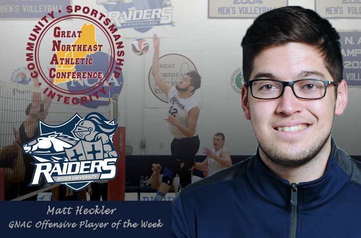 Men's Volleyball: Heckler named GNAC Offensive Player of the Week