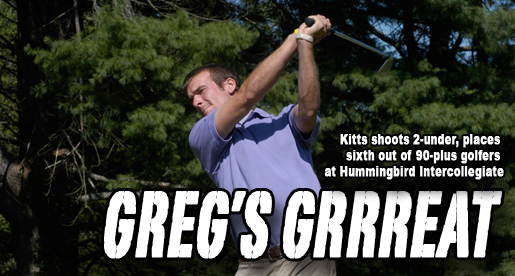 Kitts places sixth, leads Golden Eagles at Hummingbird Intercollegiate