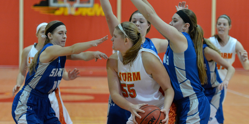 Storm can't maintain early lead, fall at Luther