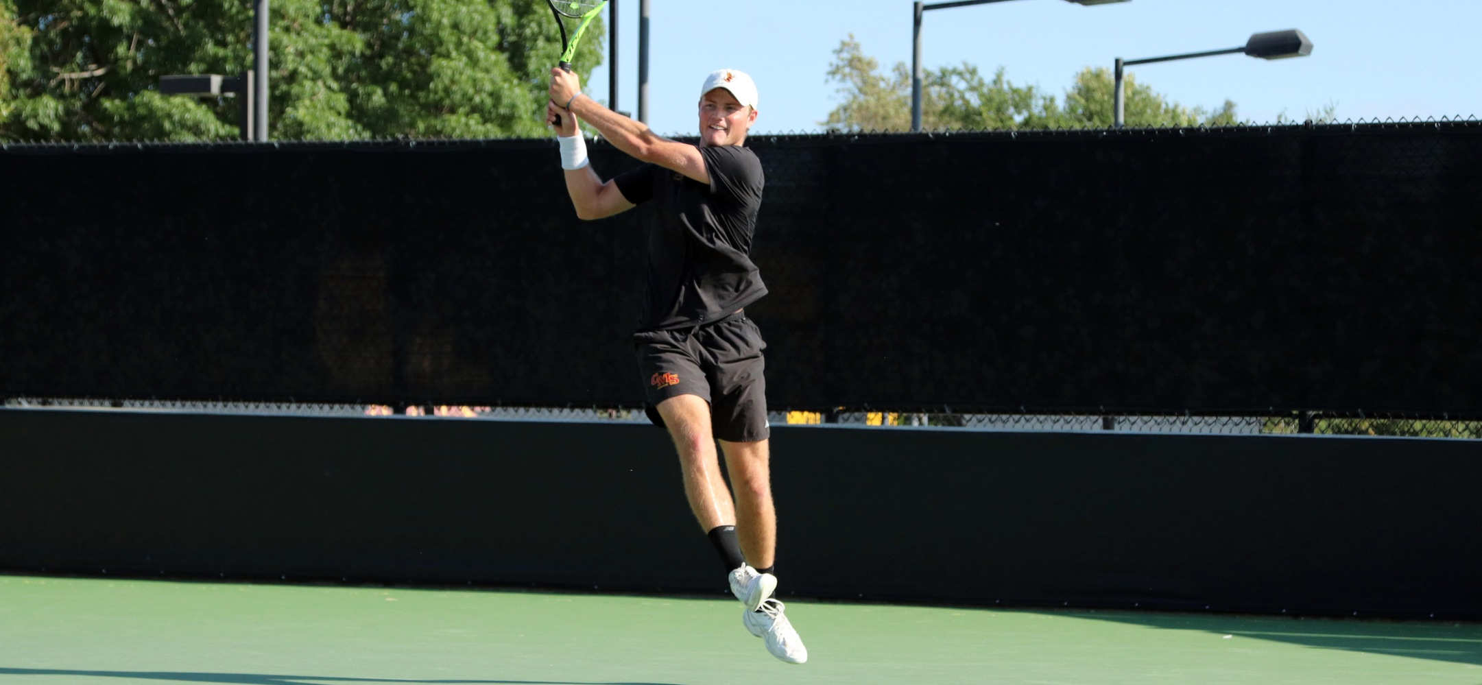 Sophomore Casey Morris (CMC) won singles matches against Cal Lutheran and UC Riverside on Saturday.