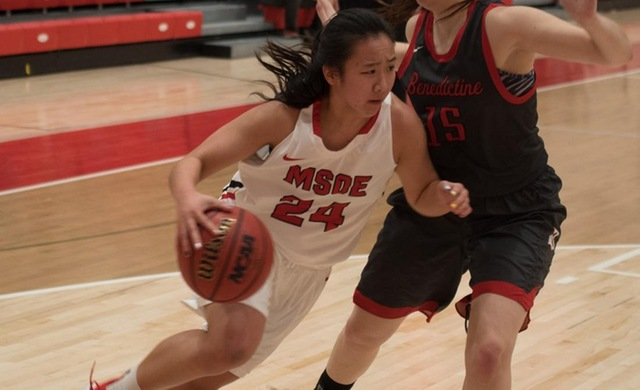 Women's Basketball Pulls Away at Edgewood for Win