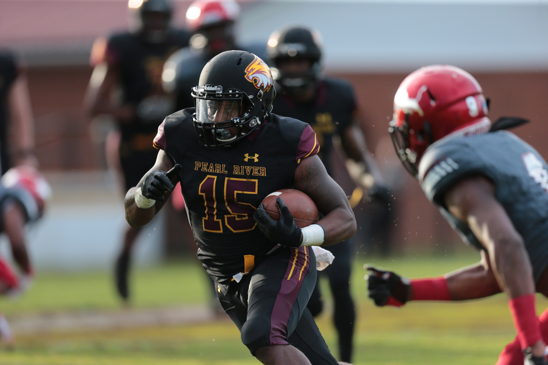 Pearl River Community College hosted East Mississippi Community College on Thursday, Sept. 6, 2018, at Dobie Holden Stadium. EMCC won 59-10. (JUCOWEEKLY.ORG)