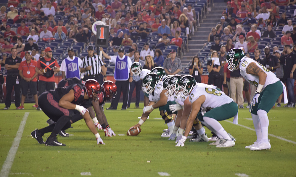 FOOTBALL PUSHES SAN DIEGO STATE TO THE LIMIT IN CLOSE LOSS