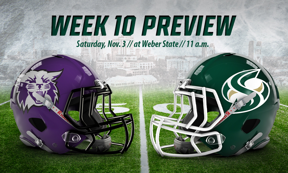 FOOTBALL TRAVELS TO No. 4 WEBER STATE ON SATURDAY