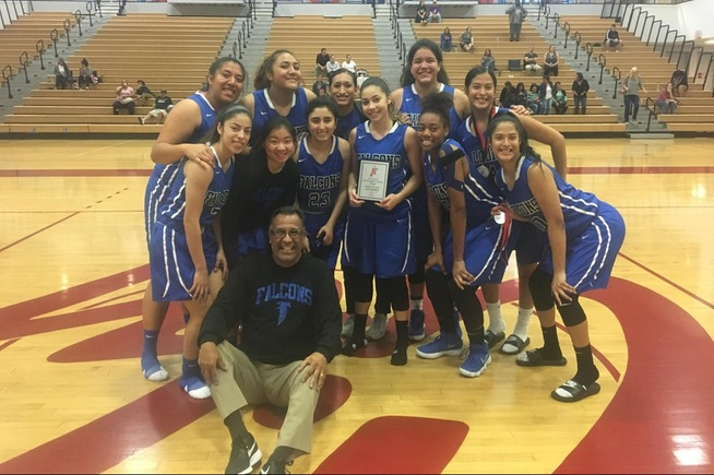 The Falcons celebrate winning the SD City Tournament