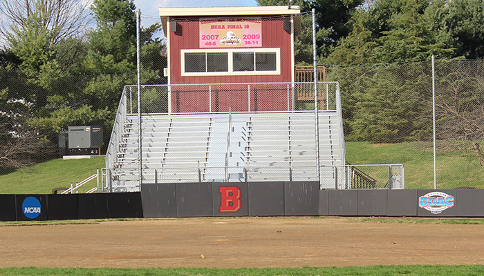 photo of fulk field backstop and press box