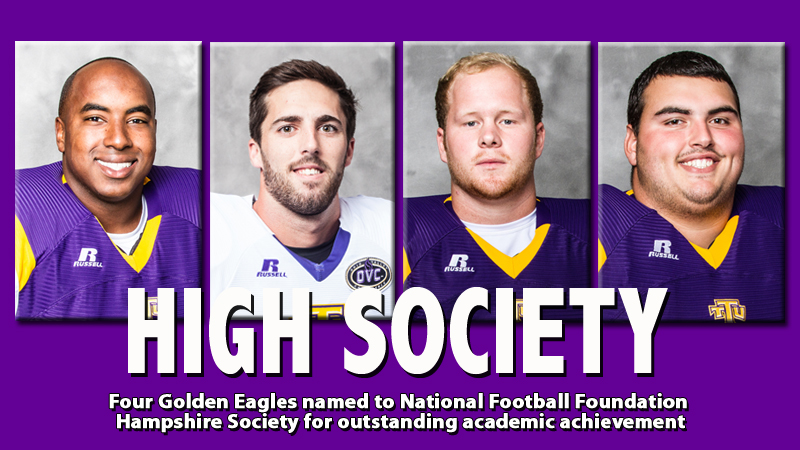 Four Golden Eagles named to NFF's Hampshire Society for academic success