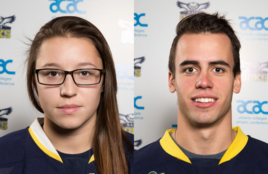 Trace Elson and Kendra Hanson of NAIT Honoured as ACAC Hockey Top League Scorers