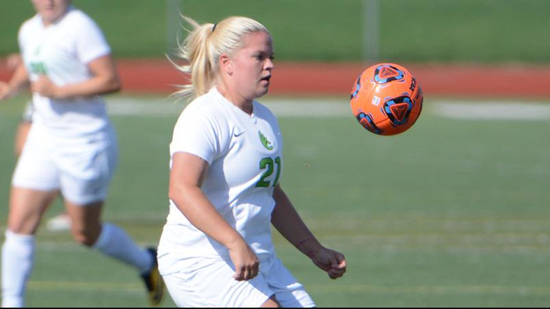 Shooting Barrage Lifts Women's Soccer to a 2-0 Victory Over Defiance
