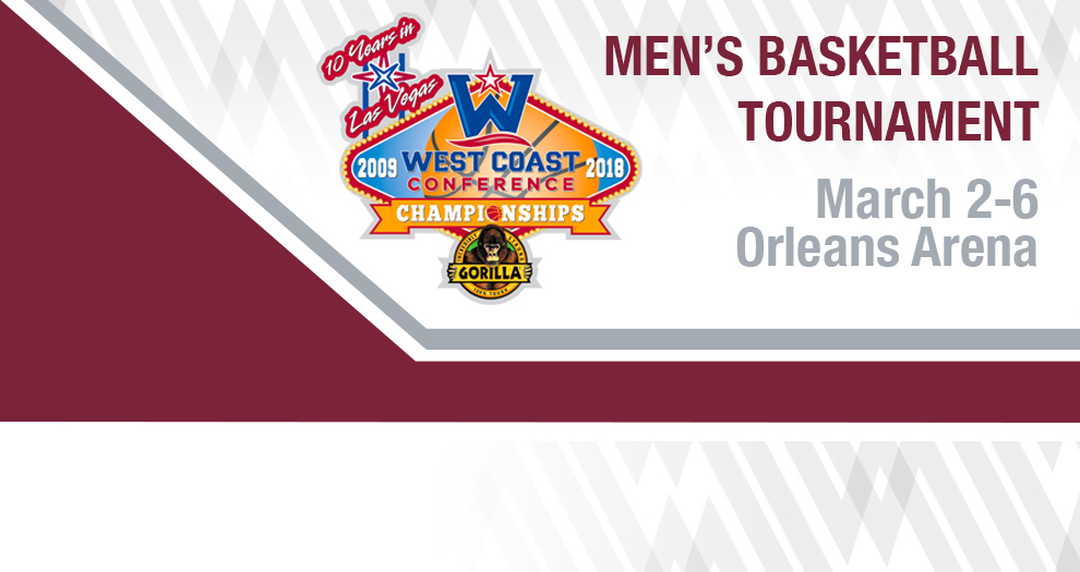 Men's Basketball Seeded No. 7 in West Coast Conference Tournament